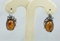 Grape Leaf Amber Earrings