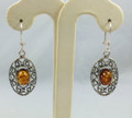Ornate Amber Earrings
