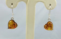 Heart Amber Earrings