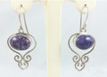 """Gypsy"" Charoite Earrings"