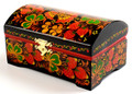 Strawberry Khokhloma Jewelry box
