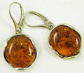 Baltic Amber Sterling Silver Dangle Earrings