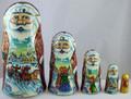 Santa 5pc Matryoshka by Lonchenkova Marina