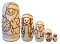 Make a colorful Matryoshka - Ded Moroz