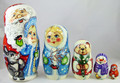 Santa with Snowmaiden Matryoshka
