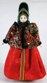 Olga - Hanging doll in Russian costume.