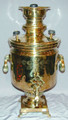 The body of the samovar is in excellent condition with some minor mineral deposit in the interior due to use. The samovar measures approximately 46.5cm high and has a volume of approximately 5 liters.