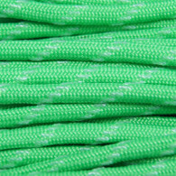 Neon Green Glow In The Dark Tracer 550 Paracord Cord