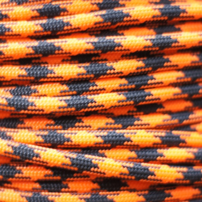Neon Orange Black Paracord