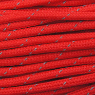 Red Reflective 550 Paracord Cord and Parachute Cord