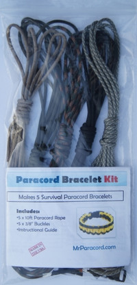 Camo Paracord Survival Kit