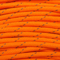 Neon Orange Reflections 550 Paracord Cord and Parachute Cord