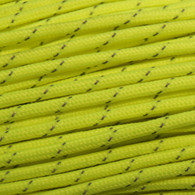 Neon Yellow Reflective 550 Paracord Cord and Parachute Cord