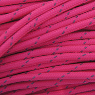 Neon Pink Reflective 550 Paracord Cord and Parachute Cord