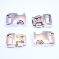 """3/8"""" Buckle / Top - Silver / Bottom - Gold"""