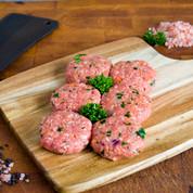 Beef:  Rissoles $23.99/kg