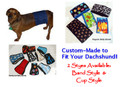 SALE!  Bad Boy Dachshund 4 inch wide Belly Band - Custom Made (TDPP)