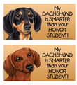 Waterproof Dachshund Smarter Than Honor Student Magnet Bumper