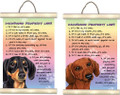 Dachshund -  Its Mine Property Laws Mini Scroll Sign