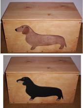 Dachshund Toy Box: Choose Red or Black-Tan Dachshund!