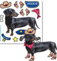 Dachshund Cowboy Dress-Up Stickers - 4 Stickers