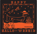 Exclusive!- Black Happy Hallo-Weenie Dachshund Halloween Longsleeve Tee