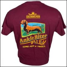 III Dachshunds MAROON Ankle Biter Ale Tee Shirt