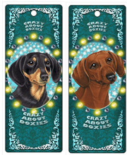 3-D Movement Dachshund Crazy About Doxies Magnet Bookmarker
