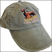 III Dachshunds KHAKI Hat Cap with Ankle Biter Ale Logo