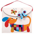 Doxie Candy Purse Treat Box - Wiener Dog Dachshund Playing with a Butterfly