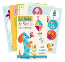 110 Labels and Seals Book featuring a Whimsy Dachshund.