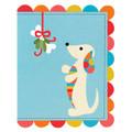Merry Christmas Holiday Dachshund Card.