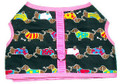 Dachshund Fun Harness w Pink Trim