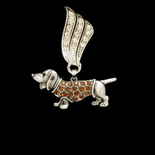 Antiqued Dachshund Slider used with Necklace or Scarf