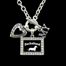 Heart My Dachshund 3 Charm Necklace (34000)