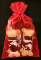 4x6 Red Sheer Organza Drawstring Fabric Bag to Gift Wrap Your Dachshund Gifts