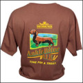 III Dachshunds CHESTNUT BROWN Ankle Biter Ale Tee Shirt