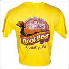 III Dachshunds Rootbeer DAISY YELLOW Logo Tee Shirt