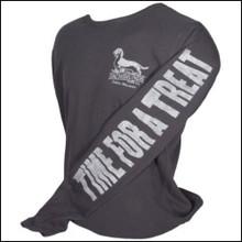 III Dachshunds LADIES Thermal BLACK Longsleeve Logo Hoody Shirt