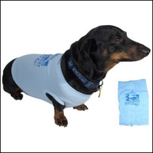 III Dachshunds Doggie Wear Tee Shirt in PINK or BLUE with Ankle Biter Ale Logo