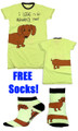 I Long To Be Around You Nightshirt with FREE Socks.