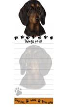 BLACK-TAN Dachshund Paw Things To Do List Pad Notepad