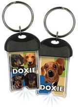 Doxie Dachshund Sparkey™ Light Up Keychain Keyring