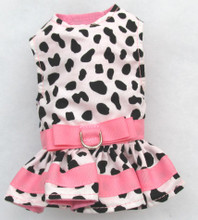 Mr. Wags Custom Dachshund Walking Harness DRESS - Cow Print