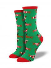 Haute Dog Whimsy CHRISTMS HOLIDAY Dachshund Socks