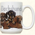 3 Dachshund Puppies Ceramic Mug