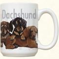 3 Dachshund Puppies Ceramic Mug