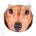 Round Zippered Pouch Dachshund Face Small Make-up Coin Purse