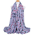 2 Dox LT GRAY Viscose Cotton Dachshund Print Scarf, Shawl, Wrap, Couch Chair Accent or Table Runner