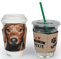 Doxie Head Foam Dachshund Cup Hugger Wrap - Hot or Cold Drinks